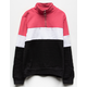 FULL TILT Color Block Half Zip Girls Sweatshirt