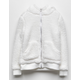 WHITE FAWN Sherpa Cream Girls Zip Hoodie