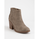 SODA Idaho Taupe Womens Heeled Booties