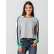DESTINED 3 Stripes Gray Combo Womens Crop Sweatshirt