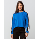 DESTINED 3 Stripes Royal Womens Crop Sweatshirt