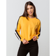 DESTINED 3 Stripes Mustard Womens Crop Sweatshirt