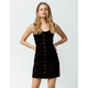 CHLOE & KATIE Twill Button Front Black Structured Dress