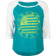 HURLEY Patched Womens Baseball Tee