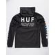 HUF Regional Tour Black Mens Anorak Jacket