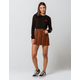 SKY AND SPARROW Stripe Corduroy Mini Skirt