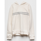 FULL TILT Chest Stripe Cream Girls Hoodie