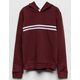 FULL TILT Chest Stripe Burgundy Girls Hoodie