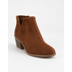 SODA Perforated Side Notch Cognac Girls Booties