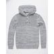 BIRCH BLACK Henley Gray Mens Hooded Sweater