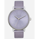 NIXON Kensington Leather Lavender Watch