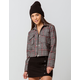 IVY & MAIN Crop Plaid Womens Jacket