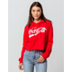 MIGHTY FINE Coca-Cola Womens Crop Hoodie