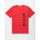 KR3W Block Buster Red Mens T-Shirt
