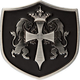 Lion & Cross Shield Belt Buckle