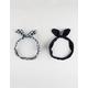 FULL TILT 2 Pack Plaid Bow Headband