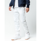 CHARLES AND A HALF Soft White Mens Twill Jogger Pants