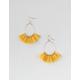 FULL TILT Mustard Tassel Dangle Earrings