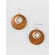 FULL TILT Wood Chandelier Gold Earrings