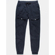 UNCLE RALPH French Terry Cargo Black Mens Jogger Pants