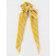 FULL TILT Striped Scarf Mustard Scrunchie