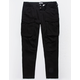 UNCLE RALPH Twill Cargo Black Mens Jogger Pants