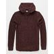 BIRCH BLACK Burgundy Mens Hooded Sweater