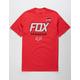 FOX Team Fox Red Mens T-Shirt
