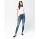 RSQ Manhattan High Rise Medium Blast Womens Ripped Skinny Jeans