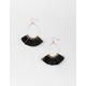 FULL TILT Black Tassel Dangle Earrings