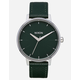 NIXON Kensington Leather Evergreen Watch