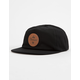 ELEMENT Leather Mountain Black Mens Snapback Hat