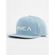 RVCA Twill III Denim Blue Boys Snapback Hat
