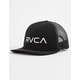 RVCA Foamy Black Camo Mens Trucker Hat