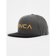RVCA Twill III Washed Black Mens Snapback Hat
