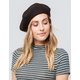 DAVID AND YOUNG Solid Black Womens Beret