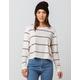 FULL TILT Essentials Stripe White Womens Tee