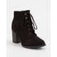 SODA Lurk Black Womens Heeled Booties