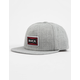 RVCA Pace Structure Heather Gray Mens Snapback Hat