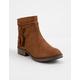 SODA Tassel Cognac Girls Boots