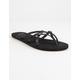 GIGI Criss Cross Black Womens Sandals