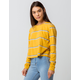 FULL TILT Essentials Stripe Mustard Womens Tee