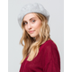 DAVID AND YOUNG Solid Gray Womens Beret