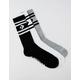 CONVERSE 3 Pack Chevron Stripe Mens Crew Socks
