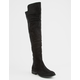 WILD DIVA 50/50 Black Womens Over The Knee Boots