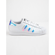 ADIDAS Superstar White & Metallic Silver Girls Shoes