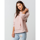 FULL TILT Essentials Chenille Light Pink Womens Hooded Sweater