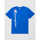 CHAMPION Vertical Script Blue Boys T-Shirt