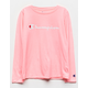 CHAMPION Heritage Pink Girls Tee