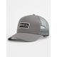 RVCA Ticket II Gray Mens Trucker Hat